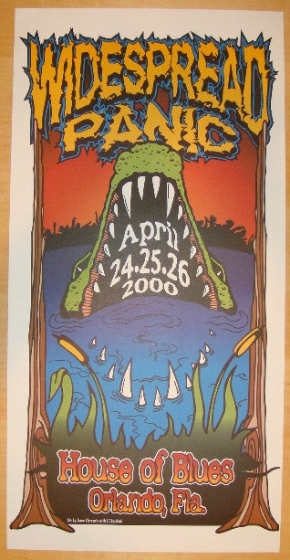 2000 Widespread Panic - Orlando Concert Poster by Clements