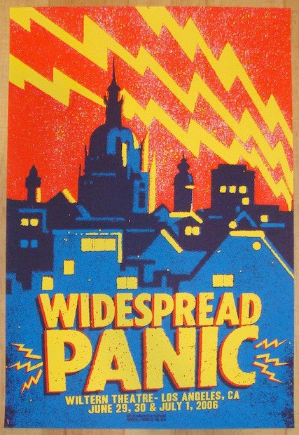 2006 Widespread Panic - Los Angeles Concert Poster by Jared Connor