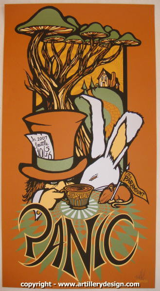 2007 Widespread Panic - Seattle Concert Poster by Brad Klausen