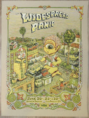 2008 Widespread Panic - Los Angeles AE Silkscreen Concert Poster by Marq Spusta