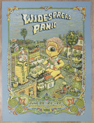 2008 Widespread Panic - Los Angeles Silkscreen Concert Poster by Marq Spusta