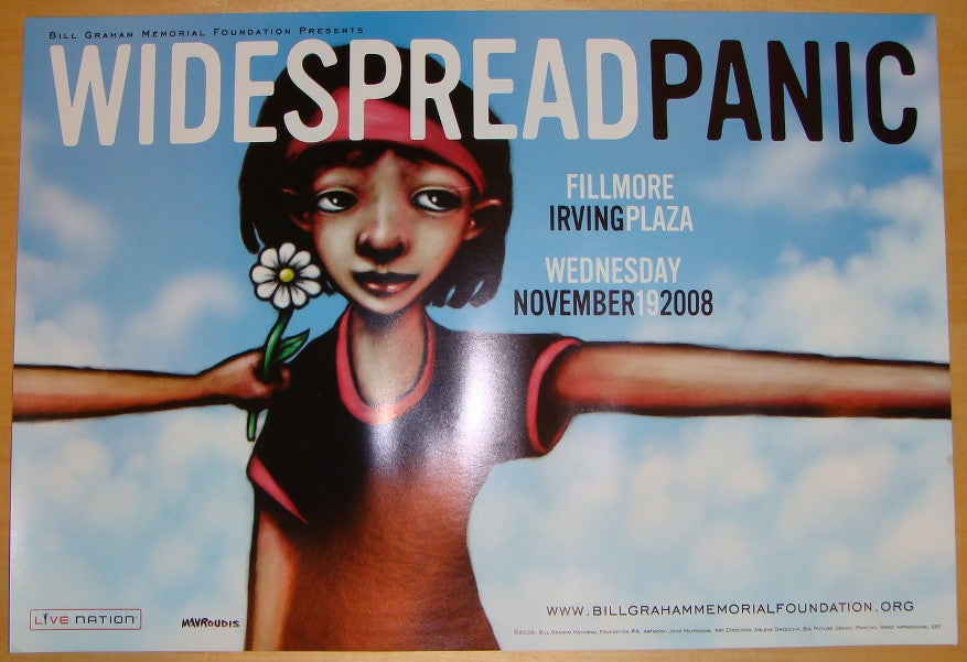 2008 Widespread Panic - Irving Plaza Concert Poster by Mavroudis