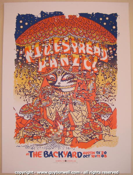 2008 Widespread Panic - Austin Concert Poster by Guy Burwell