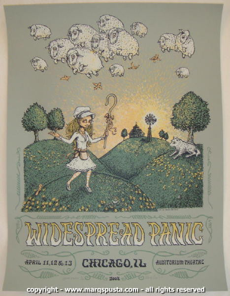 2008 Widespread Panic - Chicago AE Silkscreen Concert Poster by Marq Spusta