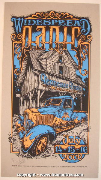 2008 Widespread Panic - Knoxville Concert Poster - Jeral Tidwell