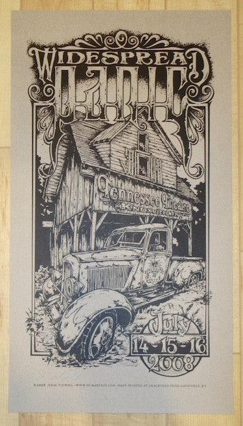 2008 Widespread Panic - Knoxville Variant Concert Poster by Jeral Tidwell