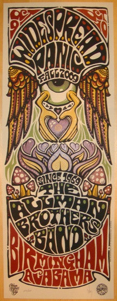 2009 Widespread Panic & Allman Bros - Birmingham Poster by Wood