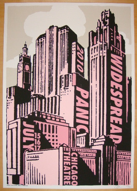 2010 Widespread Panic - Chicago Concert Poster by Bilheimer