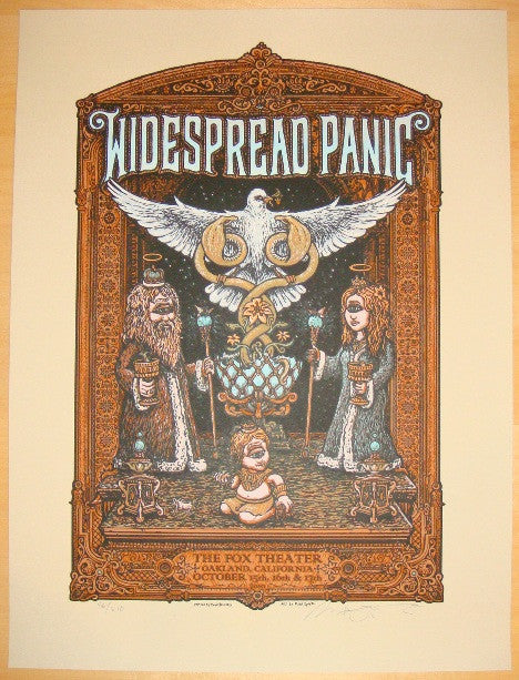 2010 Widespread Panic - Oakland Concert Poster by Marq Spusta