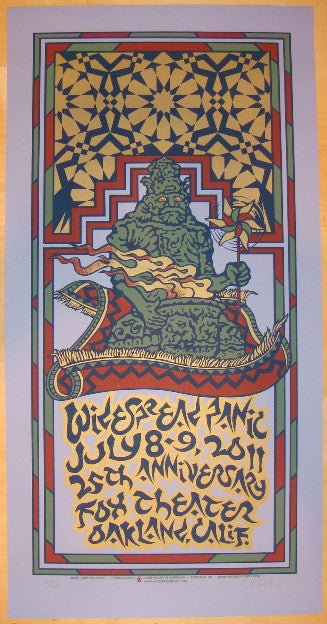 2011 Widespread Panic - Oakland Concert Poster by Gary Houston
