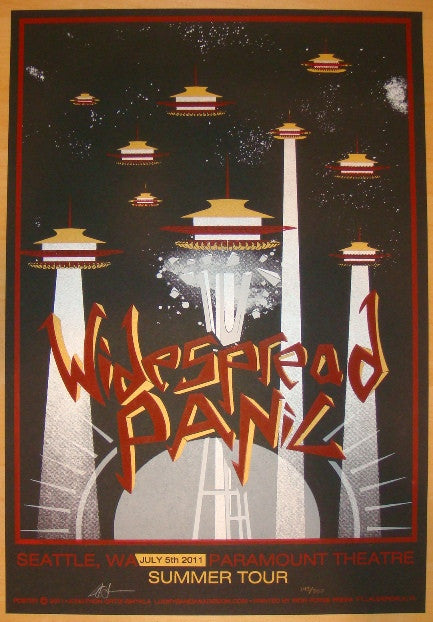 2011 Widespread Panic - Seattle Concert Poster by Ortiz-Smykla