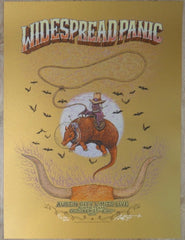 2013 Widespread Panic - Austin Old Gold Variant Concert Poster by Marq Spusta