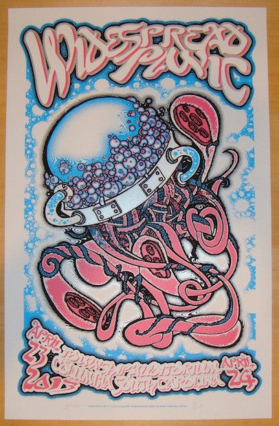 2013 Widespread Panic - Columbia Concert Poster by JT Lucchesi