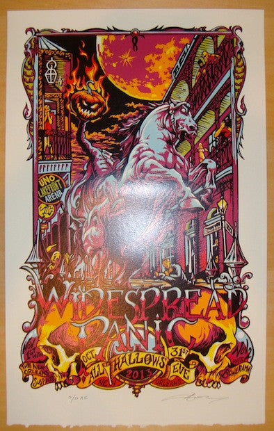 2013 Widespread Panic - NOLA Concert Poster by AJ Masthay