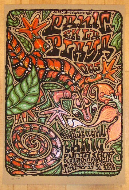 2013 Widespread Panic - Punta Cana II Poster by Jeff Wood