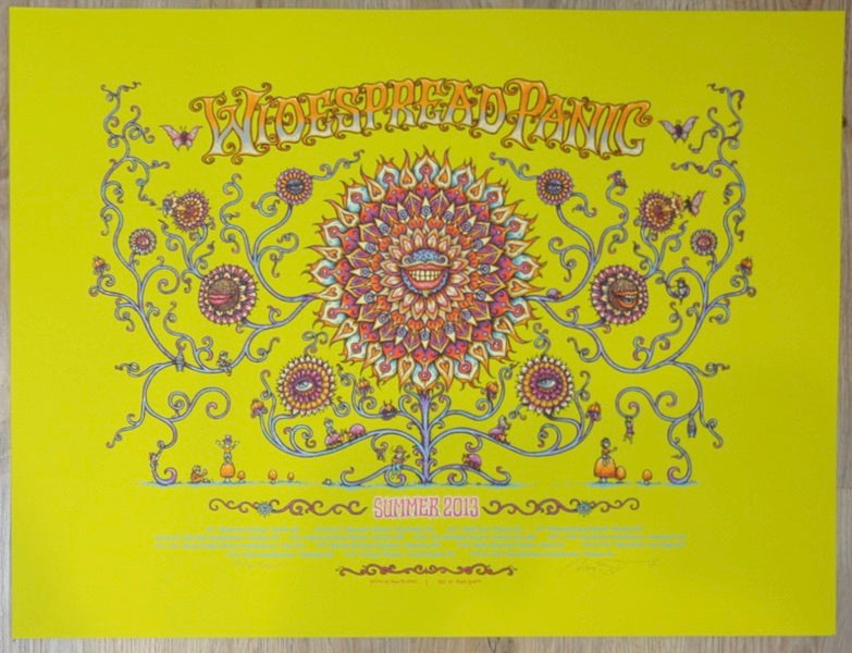 2013 Widespread Panic - Summer Tour Green Variant Concert Poster by Marq Spusta