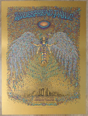 2014 Widespread Panic - Los Angeles Old Gold Variant Concert Poster by Marq Spusta