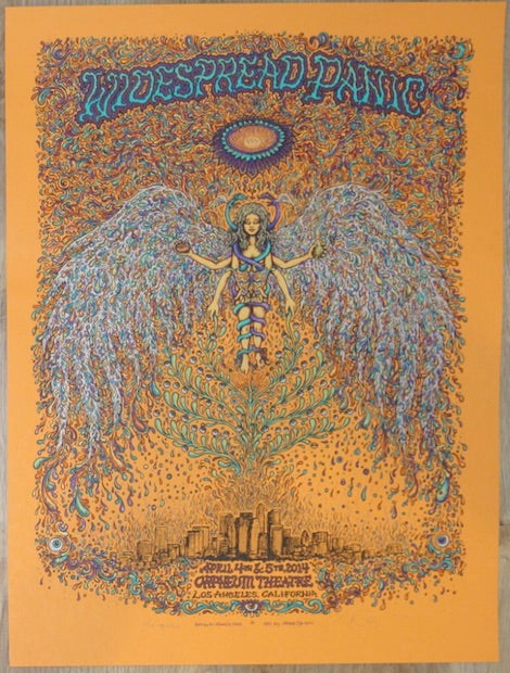 2014 Widespread Panic - Los Angeles Orange Variant Concert Poster by Marq Spusta