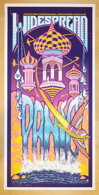 2014 Widespread Panic - Lincoln Concert Poster by Brad Klausen