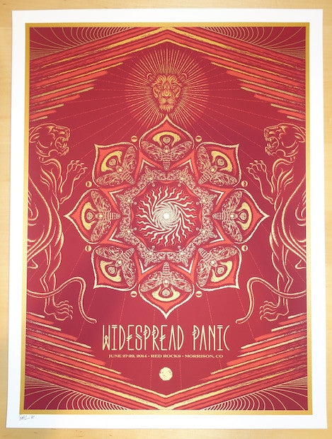 2014 Widespread Panic - Red Rocks Concert Poster by Todd Slater