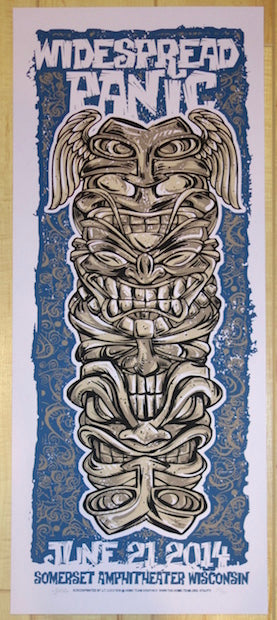 2014 Widespread Panic - Somerset Grapesicle Variant Concert Poster by JT Lucchesi