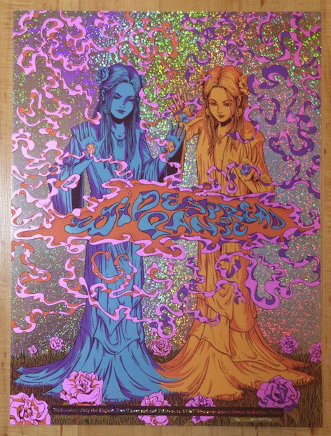 2015 Widespread Panic - Dallas Sparkle Foil Variant Concert Poster by James Flames