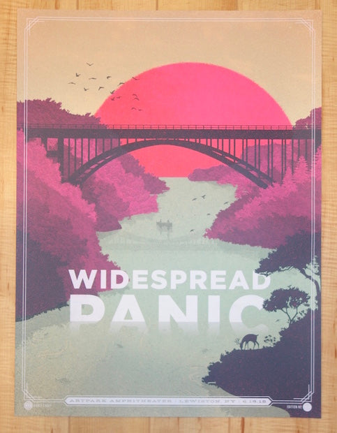 2015 Widespread Panic - Lewiston Twilight Variant Concert Poster by Half and Half
