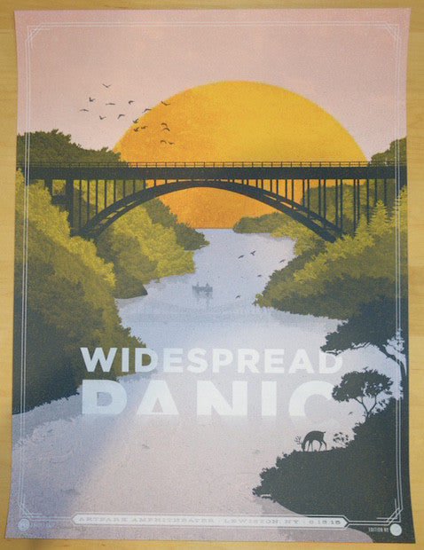 2015 Widespread Panic - Lewiston Pink Variant Concert Poster by Half and Half
