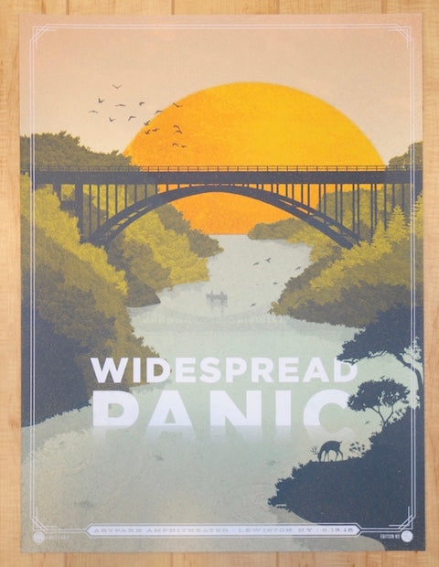 2015 Widespread Panic - Lewiston Silkscreen Concert Poster by Half and Half