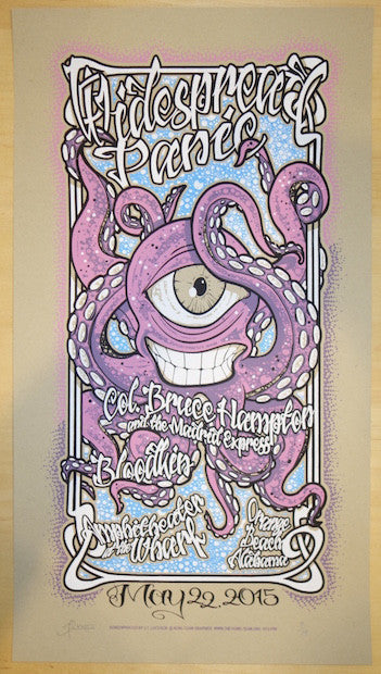 2015 Widespread Panic - Orange Beach Kraft Variant Concert Poster by JT Lucchesi