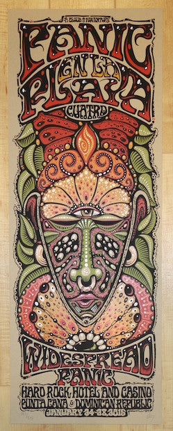 2015 Widespread Panic - Punta Cana I Concert Poster by Jeff Wood