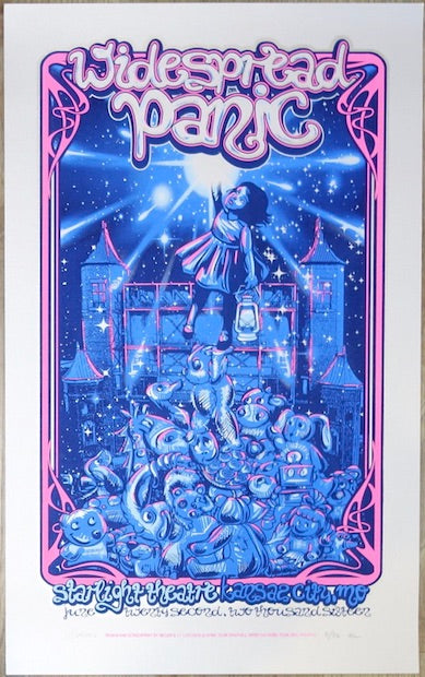 2016 Widespread Panic - Kansas City Silver Lilac Variant Concert Poster by JT Lucchesi