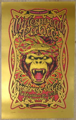 2016 Widespread Panic - Alpharetta Gold Foil Variant Concert Poster by JT Lucchesi