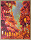 2017 Widespread Panic - Atlanta NYE Fireworks Foil Concert Poster by James Flames