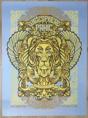 2017 Widespread Panic - Atlanta NYE Sapphire Variant Concert Poster by JT Lucchesi