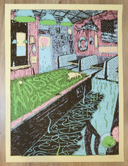 2017 Widespread Panic - St. Augustine Silkscreen Concert Poster by Leslie Herman