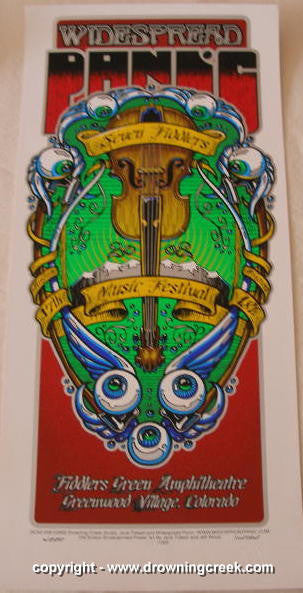 2002 Widespread Panic - Fiddler's Green Concert Poster by Wood