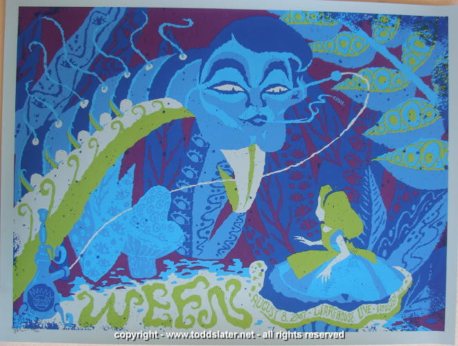2007 Ween - Houston Silkscreen Concert Poster by Todd Slater