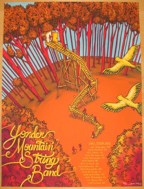 2013 Yonder Mountain String Band - Fall Poster by James Flames