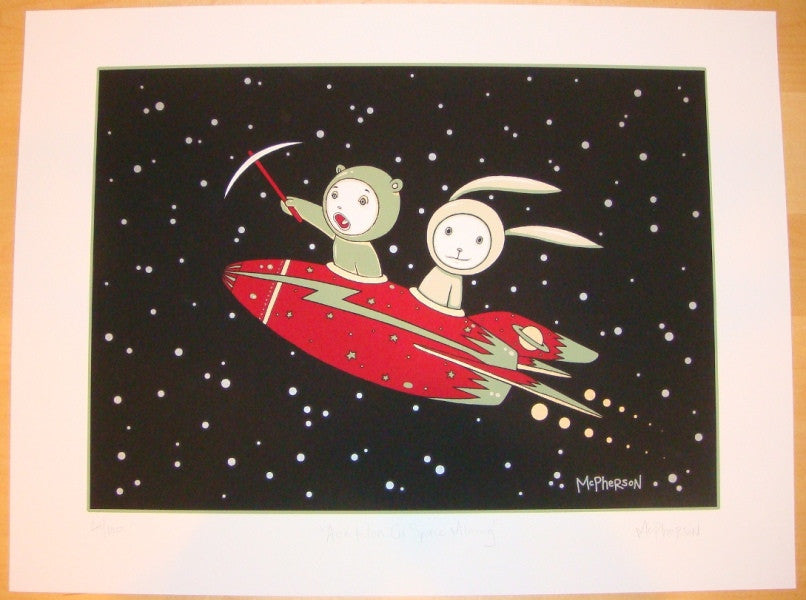 2006 Ace & Ion Go Space Mining - Art Print by Tara McPherson
