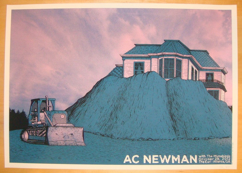 2012 AC Newman - Atlanta Silkscreen Concert Poster by Williams