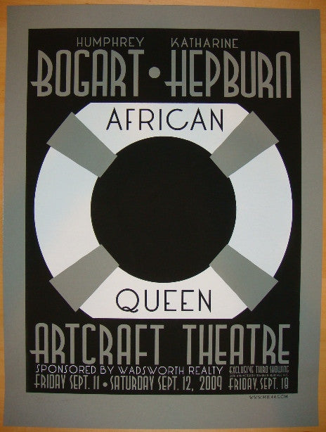 "2009 ""African Queen"" - Silkscreen Movie Poster by Mile44"
