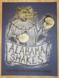 2016 Alabama Shakes - Chicago I Silkscreen Concert Poster by Dan Grzeca