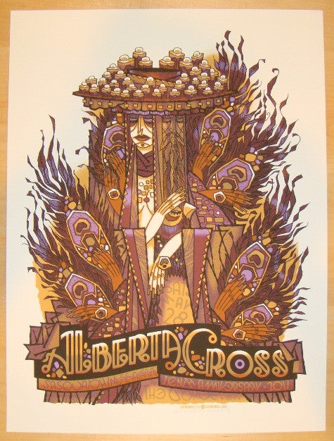 2011 Alberta Cross - Sasquatch! Concert Poster by Guy Burwell