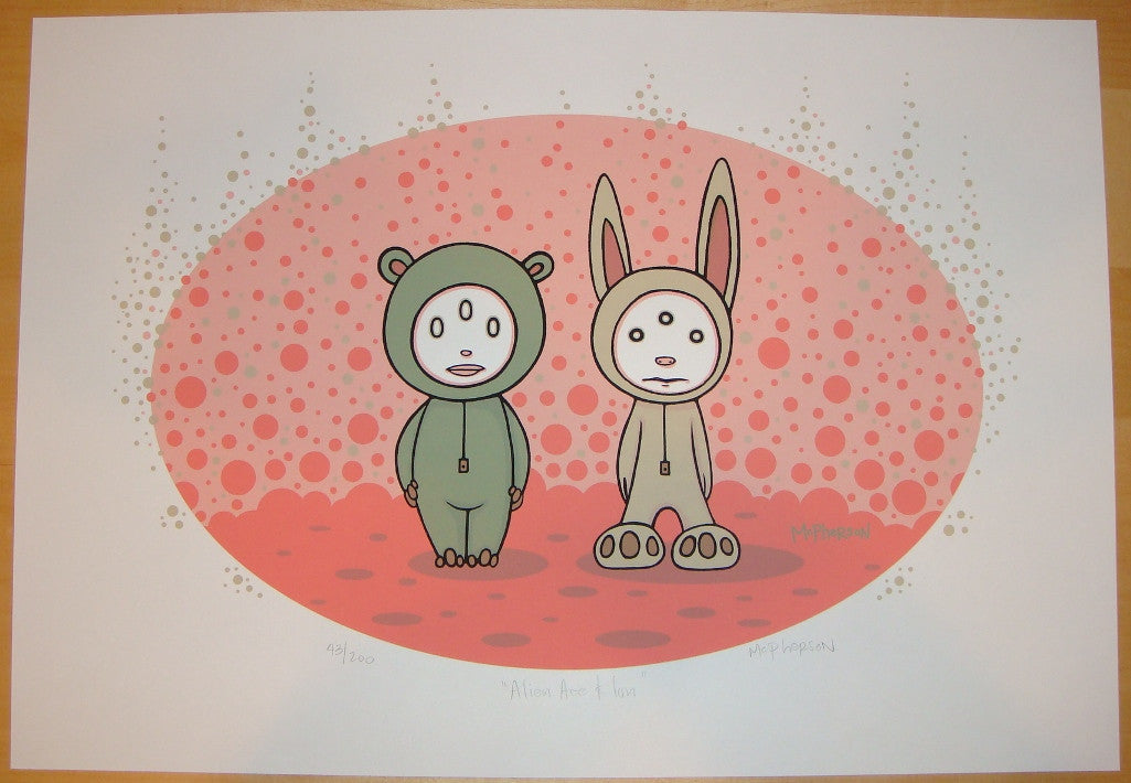 2006 Alien Ace & Ion - Silkscreen Art Print by Tara McPherson