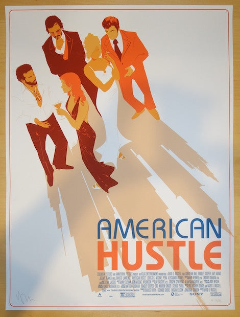 "2014 ""American Hustle"" - Silkscreen Movie Poster by Matt Taylor"