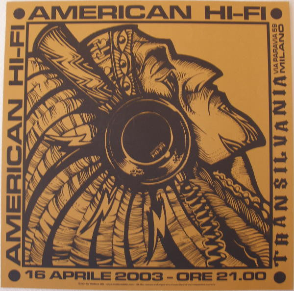 2003 American Hi-Fi - Tobacco Concert Poster by Malleus
