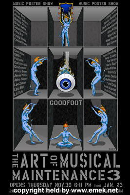 2006 Art of Musical Maintenance 3 Glow-in-Dark Show Poster Emek