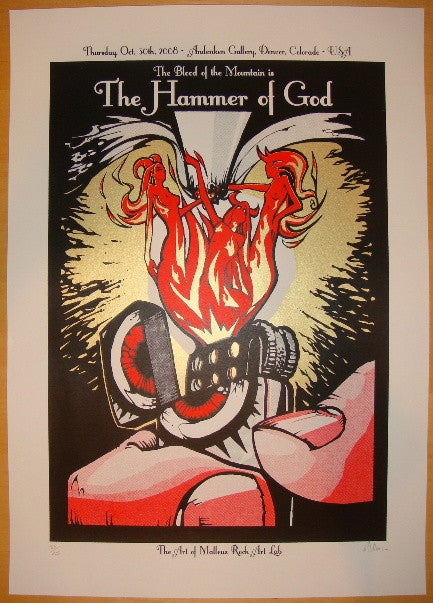 2008 Hammer of God - Silkscreen Art Show Poster by Malleus