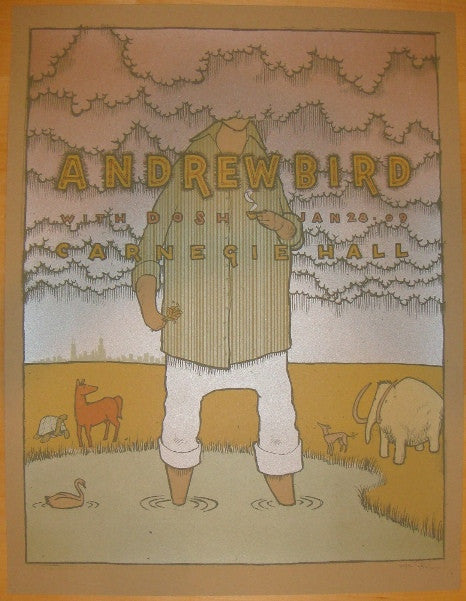 2009 Andrew Bird - NYC I Silkscreen Concert Poster by Jay Ryan